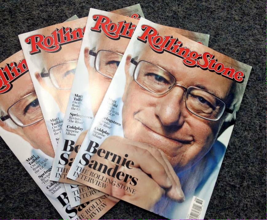 Bernie Sanders on Rolling Stones