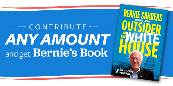 Get Bernie's book for donation