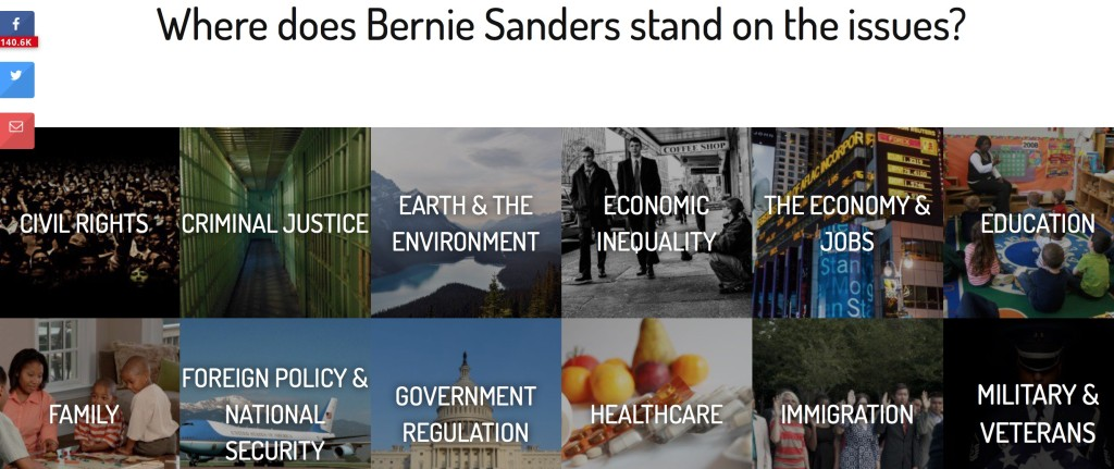 Bernie on the issues