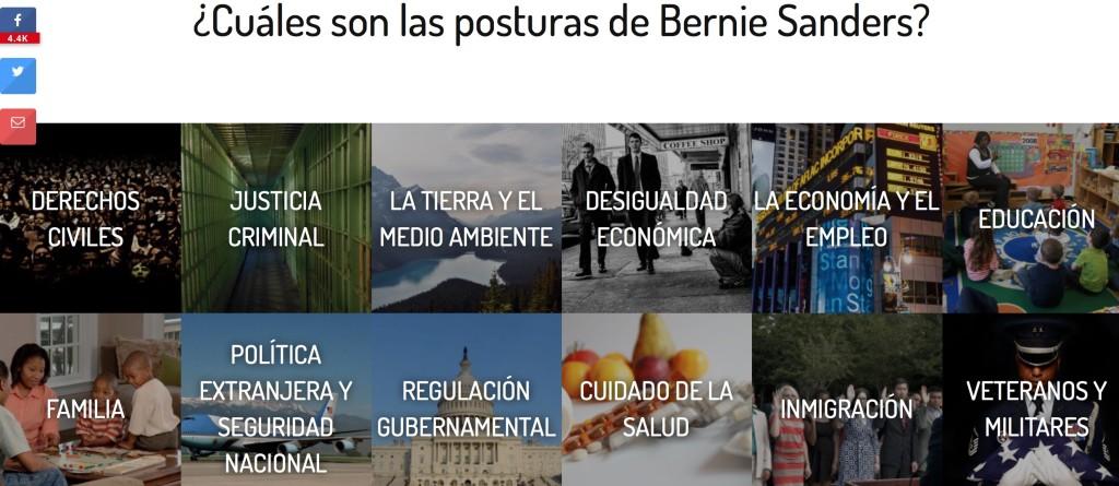 Las posturas de Bernie Sanders