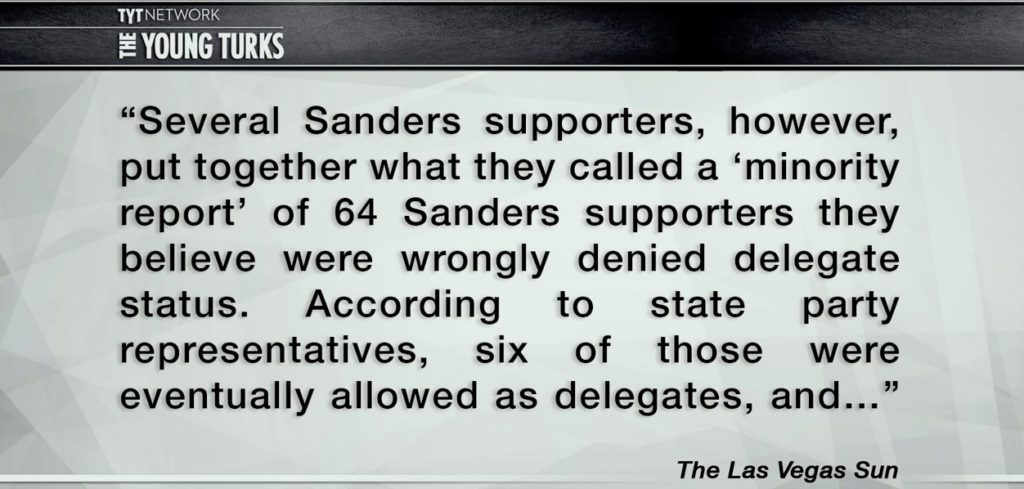 Sanders supporters not counted